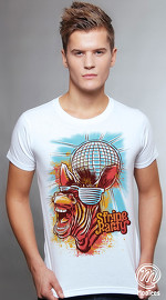 MooTees cool graphic tees for men Primal Beats 05 white 01
