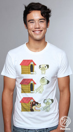 MooTees cool graphic tees for men Puggy 01 white 01