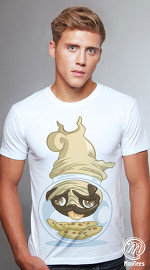 MooTees cool graphic tees for men Pugs 02 white
