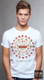 MooTees cool graphic tees for men Revolution 02 white 01