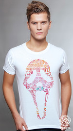 MooTees cool graphic tees for men Scream 01 white 01