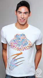 MooTees cool graphic tees for men Scream 03 white 03