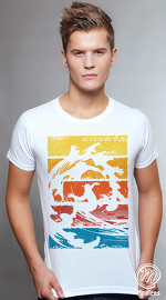 MooTees cool graphic tees for men Summer Days 04 white 01