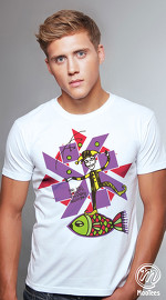 MooTees cool graphic tees for men Surreal 02 white 02