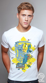 MooTees cool graphic tees for men Surreal 03 white 02