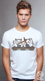 MooTees cool graphic tees for men Sushi Chronicles 01 white 01