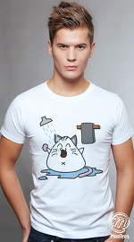 MooTees cool graphic tees for men Sushi Chronicles 05 white 01