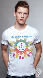 MooTees cool graphic tees for men The Electric Company 03 white 03
