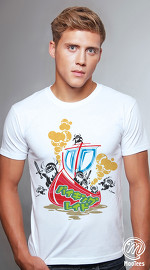 MooTees cool graphic tees for men Tranceport 03 white 02