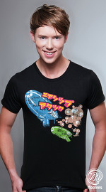 MooTees cool graphic tees for men Tranceport 05 black 03