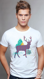MooTees cool graphic tees for men Trapped 01 white 01