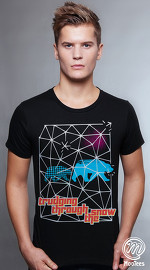 MooTees cool graphic tees for men Trapped 05 black 01