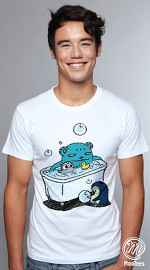 MooTees cool graphic tees for men Trio Rio 01 white 01