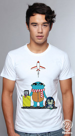 MooTees cool graphic tees for men Trio Rio 05 white 01