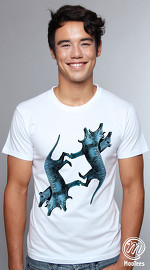 MooTees cool graphic tees for men Twin Gene 04 white