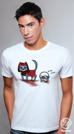 MooTees cool graphic tees for men Twisted 01 white 01