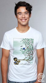 MooTees cool graphic tees for men Twisted 02 white 01