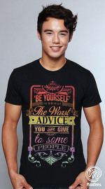 MooTees cool graphic tees for men Typographical 05 black 04