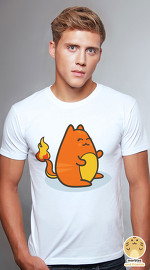 Peperpine cool graphic T shirts for men Lashes Charman Cat white