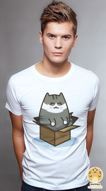 Peperpine cool graphic T shirts for men Lashes Maru Cat white