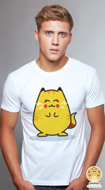 Peperpine cool graphic T shirts for men Lashes Pika Cat white