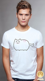Peperpine cool graphic T shirts for men Lashes Push Cat white