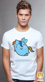 Peperpine cool graphic T shirts for men Lashes Rainbow Cat white
