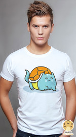 Peperpine cool graphic T shirts for men Lashes Squirt Cat white