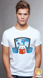 Peperpine cool graphic T shirts for men Lashes World Domination white