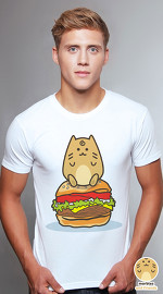 Peperpine cool graphic T shirts for men Marbles Burger white