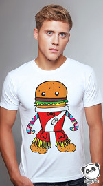 Slapping Panda cool graphic tees for men Fast Food Monster white 02