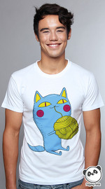 Slapping Panda cool graphic tees for men Funny Cat white 01