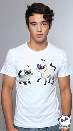 Slapping Panda cool graphic tees for men Matching Pair white 01