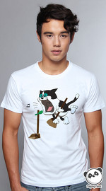 Slapping Panda cool graphic tees for men Rock Dream white 01