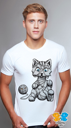 Clapping Cats cool graphic T shirts for men Graybles 05 white 02