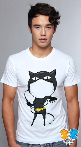 Clapping Cats cute graphic T shirts for men Super Hero Cats 03