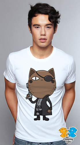 Clapping Cats cute graphic T shirts for men Super Hero Cats 06