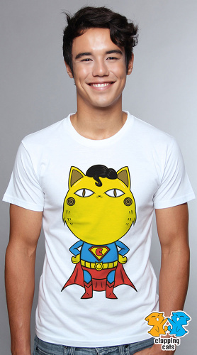 Clapping Cats cute graphic T shirts for men Super Hero Cats 08