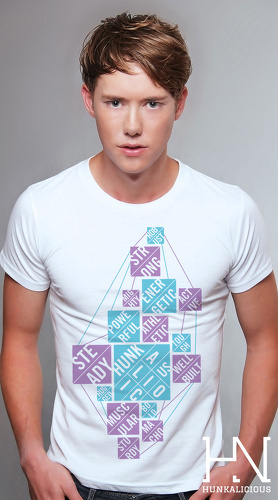 Hunkalicious cool graphic tees for men Proto Pavement 03 white 03