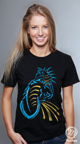 MooTees cool graphic T shirts for women Hidden Truths 01 black 02