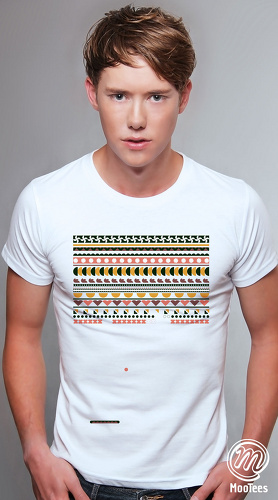 MooTees cool graphic tees for men Arcade 04 white 01