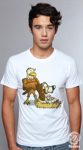 MooTees cool graphic tees for men Beagles 03 white