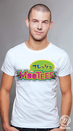 MooTees cool graphic tees for men Brand Basic 03 white 05