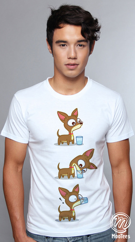 MooTees cool graphic tees for men Chiwawa 01 white