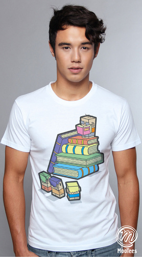 MooTees cool graphic tees for men Cuboids 03 white 04