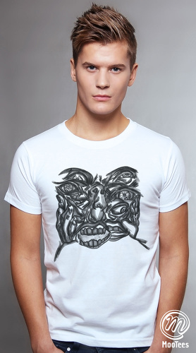 MooTees cool graphic tees for men Enigma 01 white 01