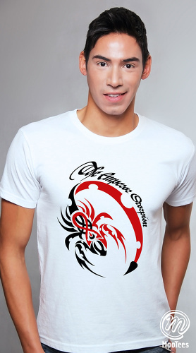 MooTees cool graphic tees for men Fearless 02 white 01