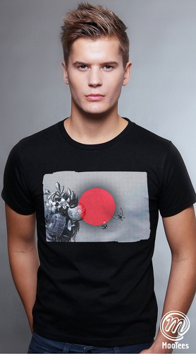 MooTees cool graphic tees for men Flags Of Our Fathers 03 black 01