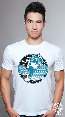 MooTees cool graphic tees for men Invasion 05 white 01