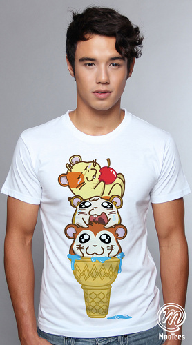 MooTees cool graphic tees for men Life Of Ham 01 white 04